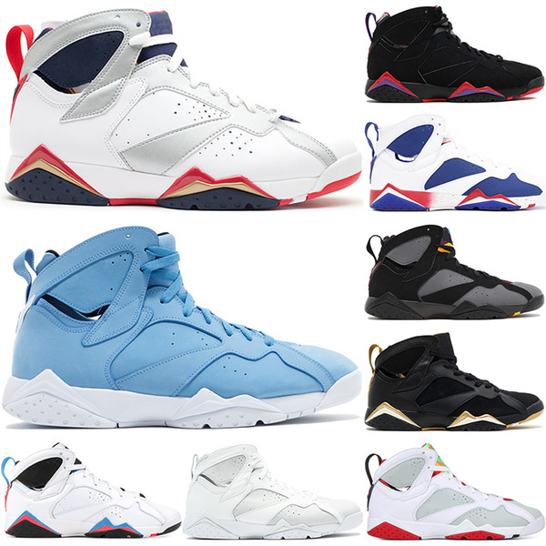 nouveau produit 0c49b cc246 Acheter Nike Air Jordan 7 Retro Hommes Chaussures De Basket Ball Pantone  Raptor Bricoler Alternatif Cigare Golden Moments Paquet Lièvre Pur Argent  Top ...
