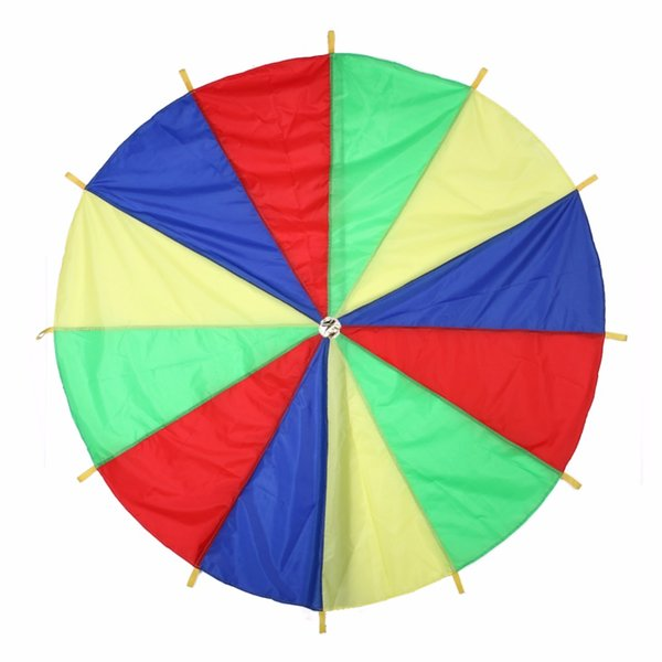 play parachute Dia 2m Children Sports Outdoor Rainbow Umbrella Parachute Outdoor Development Toy Jump-sack Ballute Play Toy