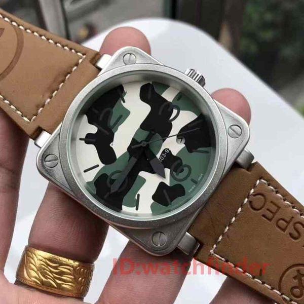Black Luxury Sport in gomma nera automatica BR03 PVD Dive 46mm Mens Designer Watch Uomo Orologi da polso da uomo