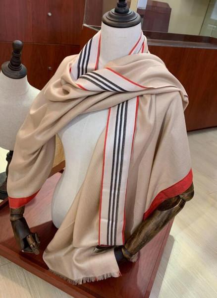 2018 winter silk scarves for women's wear brand designer shawl, cashmere check scarf wholesale transport