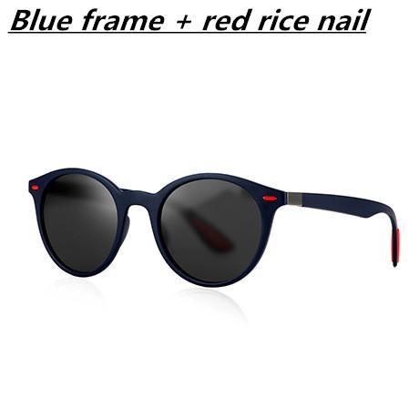 Marco azul + clavo de arroz rojo