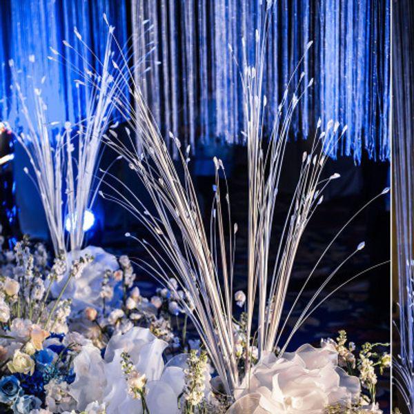 Белый Искусственный Цветок Моделирование Павлин Трава Букет Свадьба Этап Сад Фестиваль Украшения Реквизит Композиция Цветочные