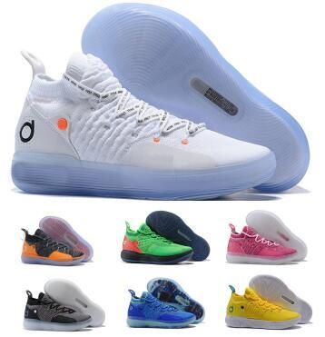 Multi Kd 11 11s Basketball Shoes Sneakers 2019 Mens Blue Still Eybl BHM Kevin Durant XI Oero Foam Man Sports Trainer Authentic Shoes