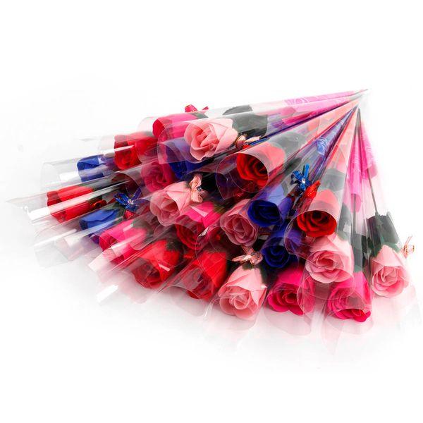 30 pezzi / set profumato sapone da bagno rosa sapone fiore petalo con confezione regalo per matrimonio san valentino festa della mamma regalo giorno dell'insegnante C18112001