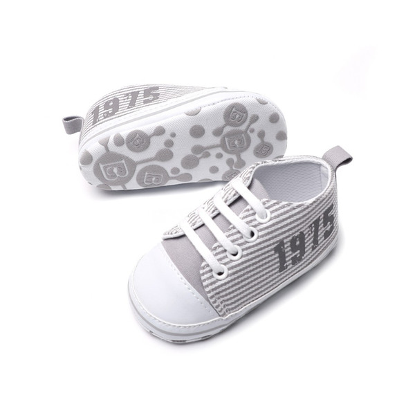 The Infant Toddler Baby Casual Shoes Cotton Stripe Soft Sole Non-Slip Sneaker ,great for baby learn