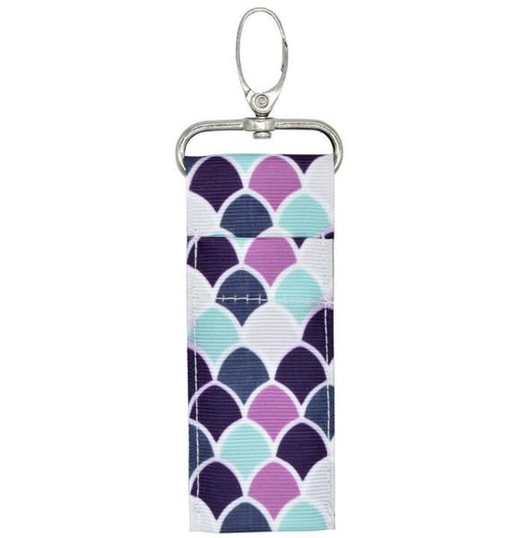 Gedruckter Lippenstifthalter Chapstick Holder Keychain Lippenstift-Beutel-Beutel Lippenpalme Blumenpfeilschlüsselring für Mutter-Mädchen-Geschenke