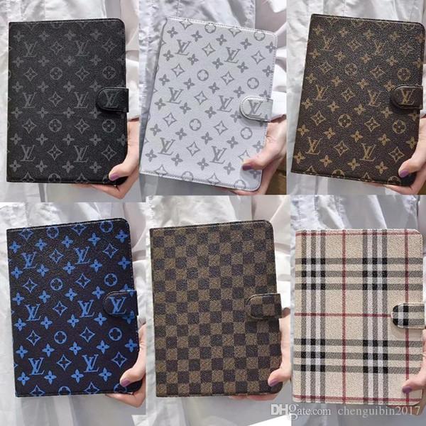 Diseño de marca carta de impresión cubierta de la caja de la tableta funda de piel para ipad mini1 mini2 mini3 mini4 mini5 air2 air pro 9.7 pulgadas 10.5