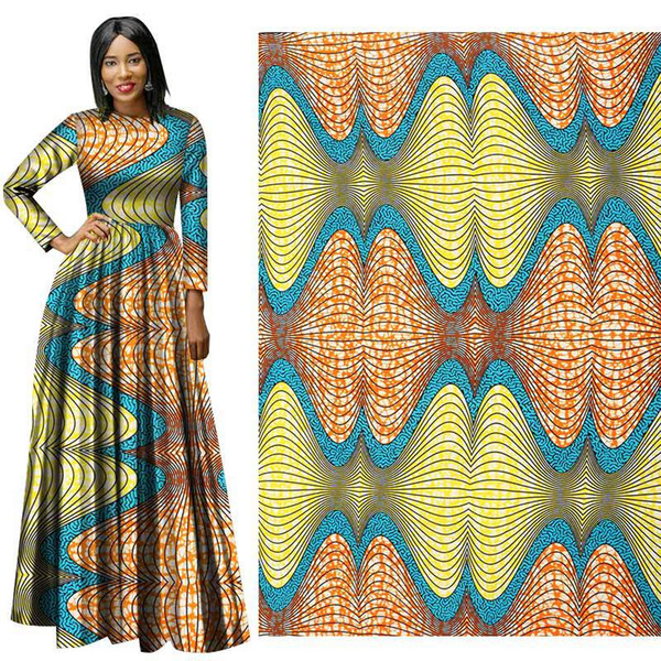 Latest style Binta Real Wax High Quality 6 yards African Fabric for Party Dress Ankara African Polyester Wax Prints Fabric