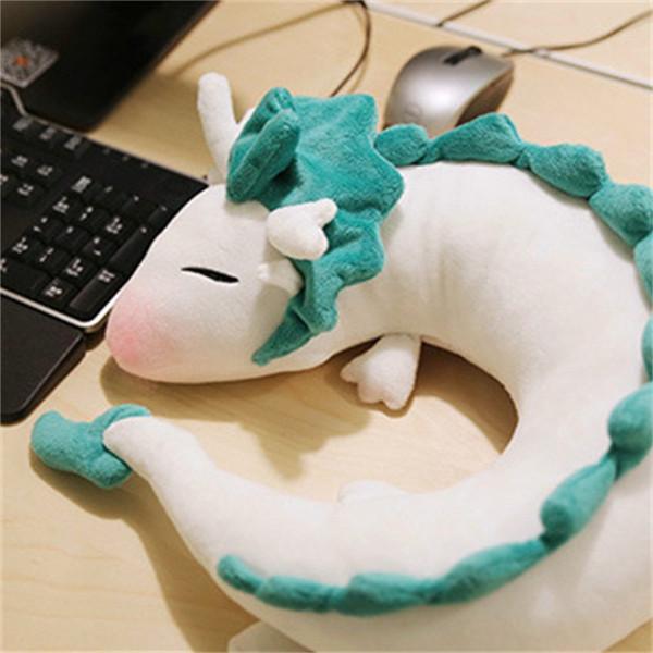 Branco Dragão Cavalo Recheado Boneca Crianças Crianças Brinquedo De Pelúcia Viagem Para O Travesseiro Oeste Adulto Universal Confortável 19ry D1