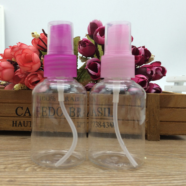 2 Unids Perfume Perfumería Fragancias Champú Loción Envases Cosméticos Envases Embotellado Botellas Rellenables 50 ml Bomba de Pulverización D19011701
