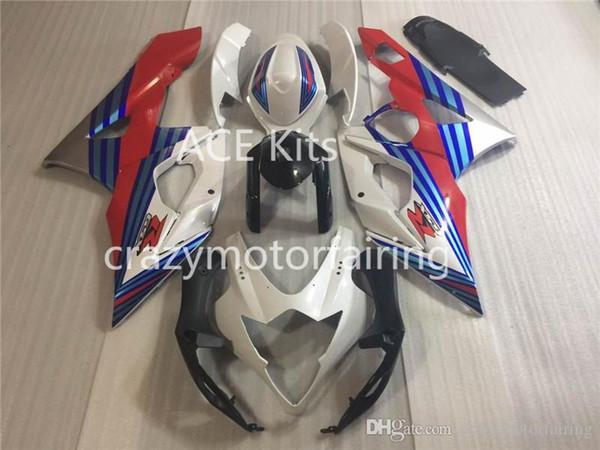 3 gifts+Seat cowl New Fairings Kits For SUZUKI GSXR1000 K5 05-06 GSXR 1000 GSX R1000 GSX-R1000 K5 05 06 2005 2006 White Blue Red S1