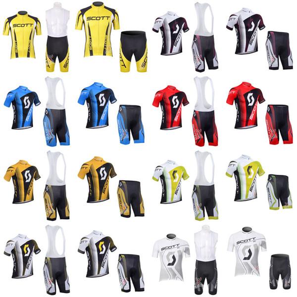 SCOTT ciclismo manica corta jersey pantaloncini set 3D gel pad squadra sport maglia ciclismo abbigliamento MTB traspirante Quick dry F0921