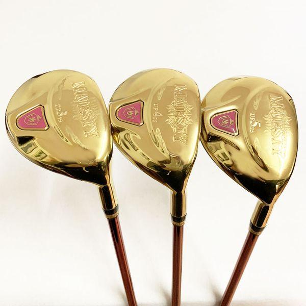Golf para mujer Madera híbrida Maruman majestad Golf clubes de madera UF2 / 16 UF3 / 19 UF4 / 22 UF5 / 25 Funda del eje de golf Graphite L flex