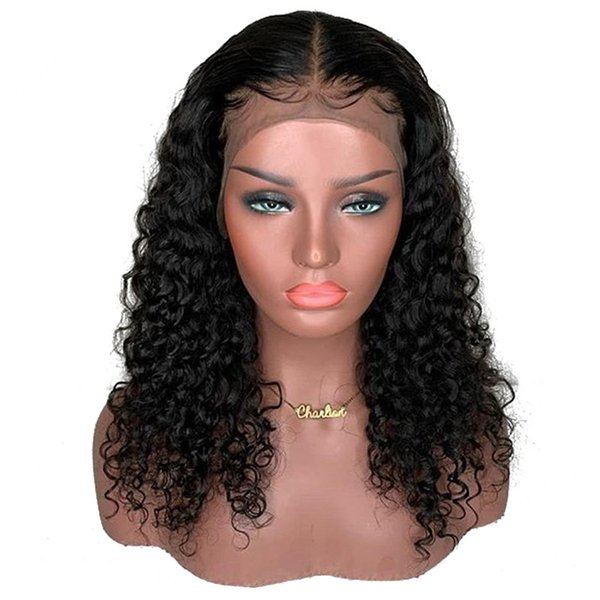 Brazilian Deep Curly Full Lace Human Hair Wig Pre Plucked With Baby Hair Remy Hair Full Lace Wigs For Women