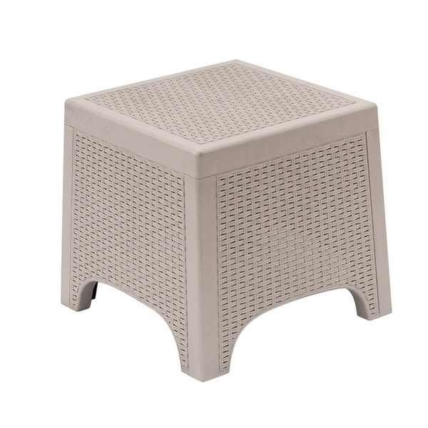 Enjoyable 2019 Outdoor Small End Table All Weather Modern Patio Garden Backyard Living Room Sofa Set Furniture Coffee Bistro Table Rattan Side Gray White From Spiritservingveterans Wood Chair Design Ideas Spiritservingveteransorg