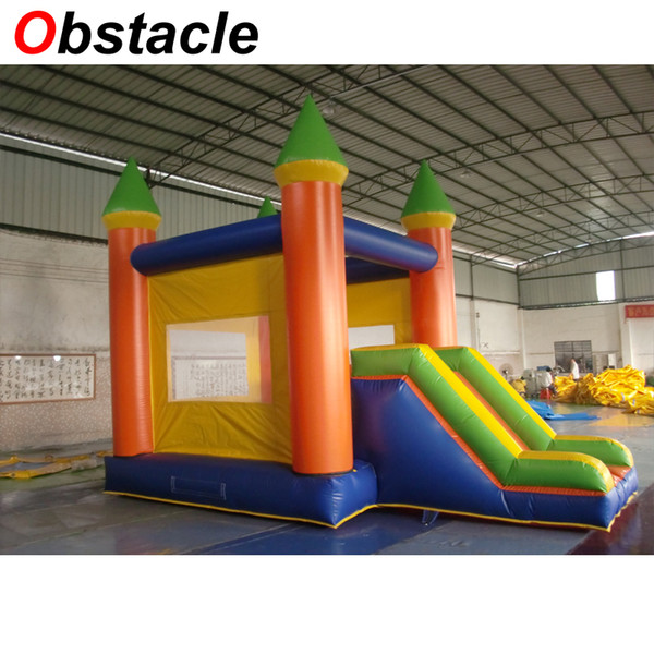 Standard size and model 4.5 x 5m inflatable bouncy castle with slide combo inflatable jumping trampoline house for kids