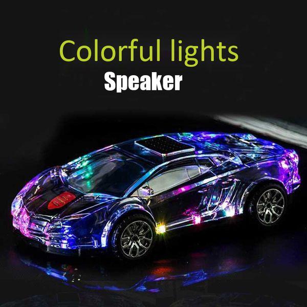 Bunte LED-Licht Bluetooth-Lautsprecher-Auto-Modell Bluetooth-Lautsprecher Wireless Audio TF-Karte U-Disk-Player tragbare Lautsprecher