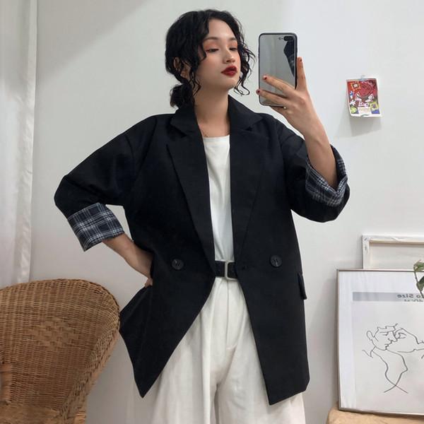Korean Style 2019 Women Blazers and Jackets Oversize Casual Blazer Mujer Black Blazer Feminino