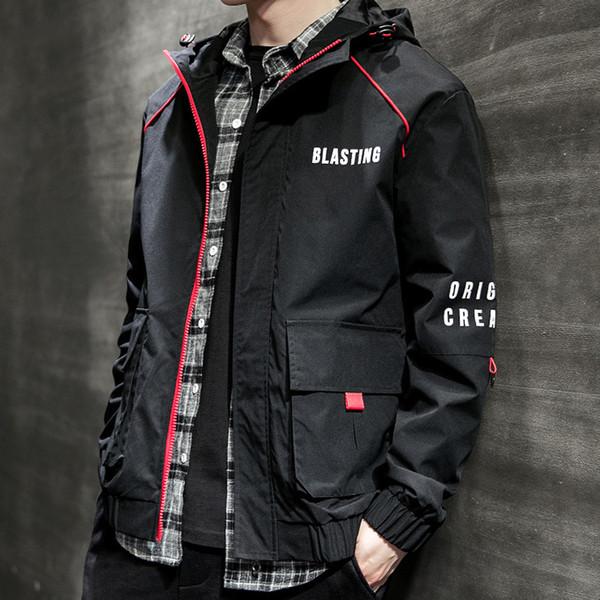Casaco masculino erkek Sonbahar Rahat Moda Saf Renk Hoodie Fermuar Artı Boyutu Ceket jaqueta masculino