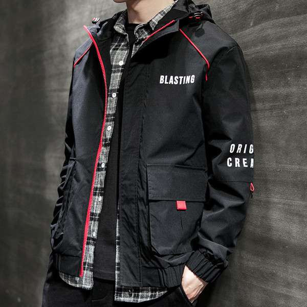 casaco masculino Men's Autumn Casual Fashion Pure Color Hoodie Zipper Plus Size Coat jaqueta masculino