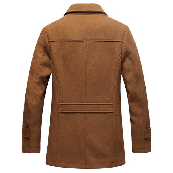 40% шерстяное пальто мужские зимние теплые модные повседневные пальто верхняя одежда куртка и пальто мужские гороховые 5XL плюс размер AG-JF-01