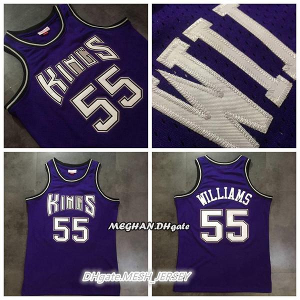 pretty nice f0c61 c3b2c 2018 Men Retro Kings Mitchell & Ness Basketball Jerseys 55 Jason Williams  Sacramento Dense AU Mesh Fabric Jerseys Size S XXL From Boon001, $21.91    ...