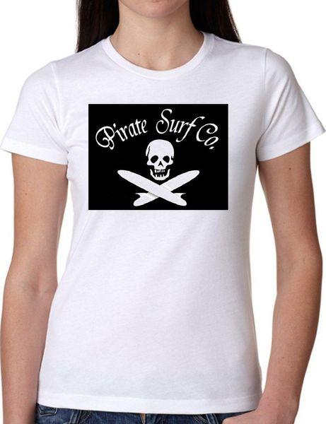 T-SHIRT JODE GIRGG22 Z3221 PIRATE SURF CO. DRAPEAU LA CALIFORNIE MODE DE VIE FUN FAS Hommes Femmes Mode Unisexe t-shirt Livraison Gratuite Funny Cool