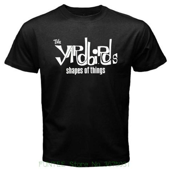 High Quality Custom The Yardbirds Shapes Of Things Rock Legend Men's Black T-shirt S M L Xl 2xl 3xl