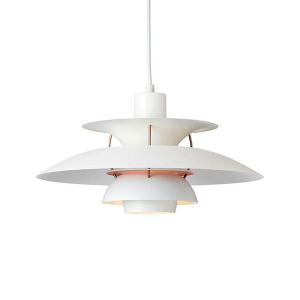 Lámpara moderna Dinamarca Louis Poulsen PH5 Lámpara colgante Lámpara de dormitorio Blanco Negro Luz colgante Suspensión Droplight Living Comedor