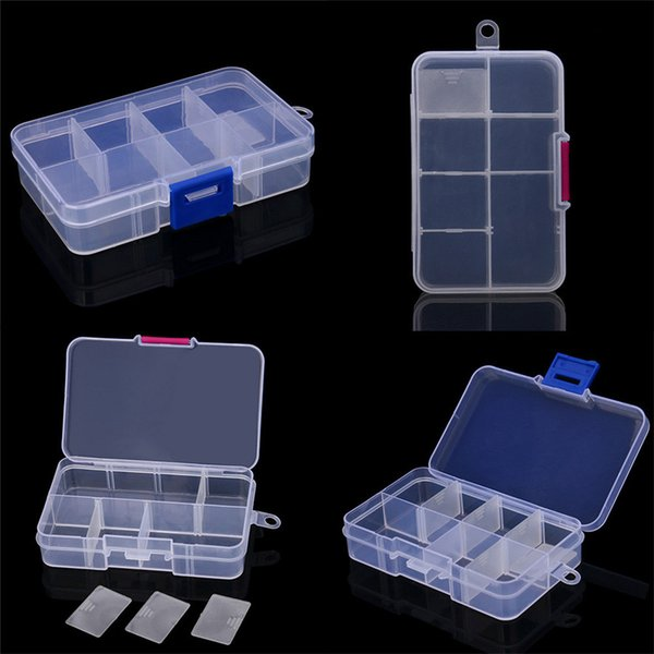 NER 2017 Dropshipping Plastic 8 Slots Adjustable Jewelry Storage Box Case Craft Organizer Bead