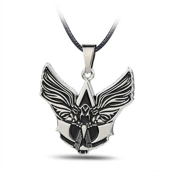 Punk jewellery Angel Wings Sword Man Humankind Figure Silver necklace Rope Chain Male Female Angel necklace pendant