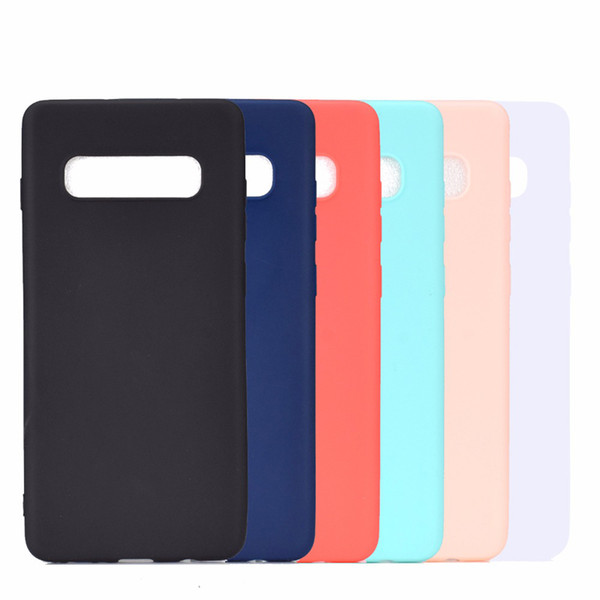 Candy Color Matte Silicone Soft TPU Case For Samsung S9 S10 Plus S10e A8S A6S J2 J4 Core A7 A9 J3 Pro J7 J6 J8 2018 J5 Prime C5 C7 C9 C10