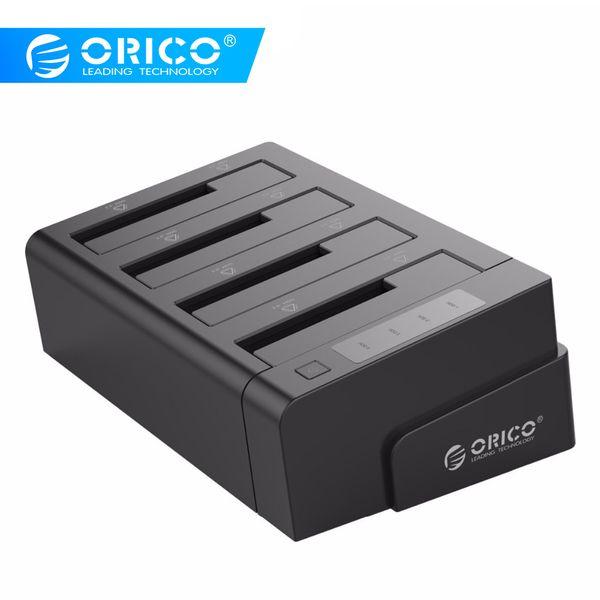 жесткий диск док ORICO 6648US3-C USB 3,0 2,5 3,5 дюймовый SATA внешний жесткий диск док-станция 4-Bay офф-лайн клон Hdd док-станция