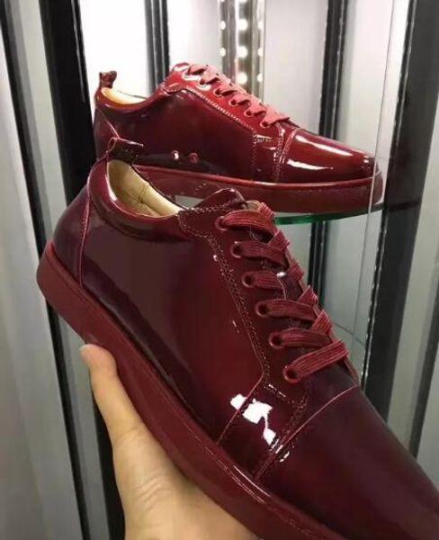 drop shipping new 2018 Scarpe da ginnastica a buon mercato con fondo rosso per uomo con Spikes in pelle scamosciata nera moda casual uomo scarpe basse top da uomo piede da allenamento