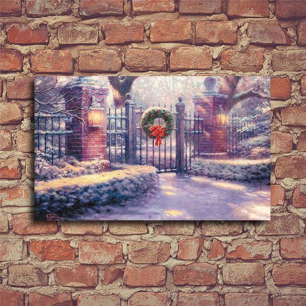 Charming Winter Wonderland Theme Decorations Western Winter Christmas Snow Scene Hd Printing Mural Home Christmas Decor Christmas Supplies Christmas