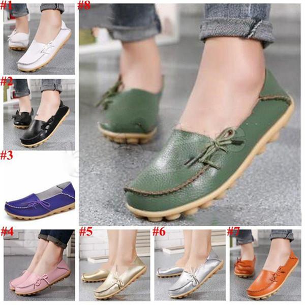 Chaussures Lazy Flat Doug Mocassins Sandales Nurses Mère Chaussures d'été Flats à lacets sport Chaussures en cuir véritable chaussures FJ514