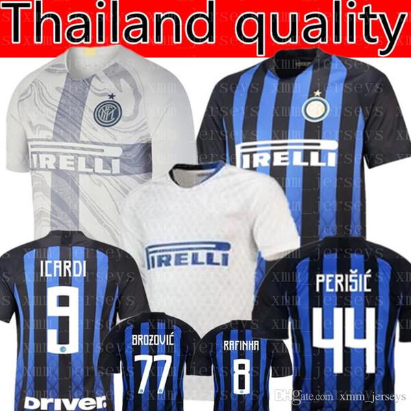 2019 Inter Mailand Fußballtrikot Thai ICARDI 9 J.MARIO 10 VECINO 11 EVER BANEGA 19 Fußballtrikot DALBERT 29 SKRINIAR 37 Einheitliches Team