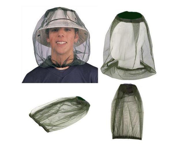 Venda quente Leve Midge Mosquito Inseto Chapéu Bug Mesh Head Net Protetor de Rosto Viagem Camping Hedging Anti-mosquito Cap SN2819