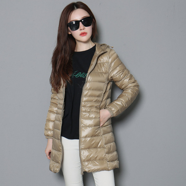 2019 Women/'s Ultralight Short 90/% Down Hooded Jacket Puffer Parka Coat Top S-6XL