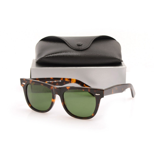 54MM Tortoise Frame Green Lens