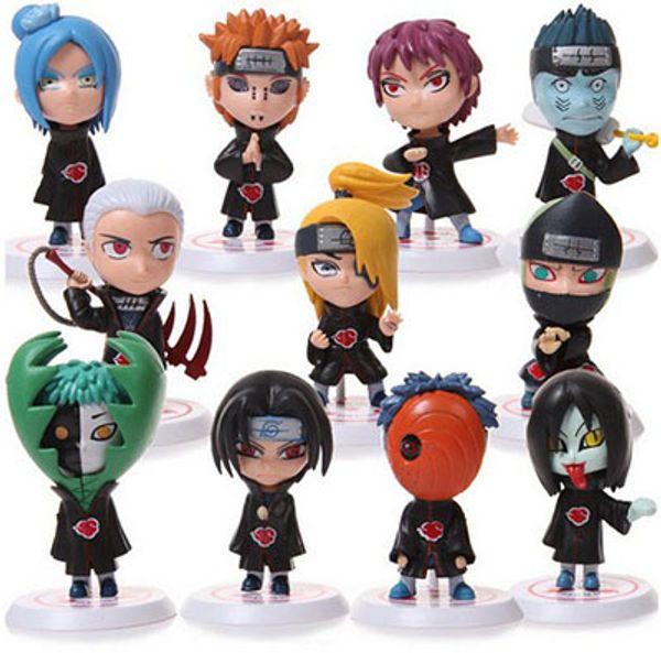Naruto Sasuke Uzumaki Kakashi Gaara Action Mit Reittieren Figuren funko pop Japan Anime Sammlungen Geschenke Kinderspielzeug