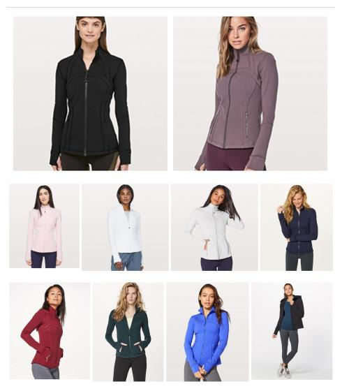 best selling 2019 classic lulu women's yoga autumn winter jacket for running outdoor sports jacket casual stripes versatile multi-color options yoga long