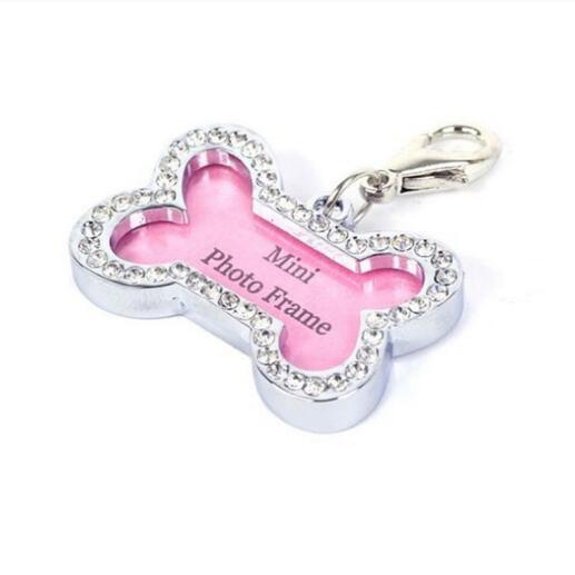Collar accessories Decoration Pet ID Dog Tags Collars Brass flat edge dog tag metal id tag wire drawing pet id tag-Z01