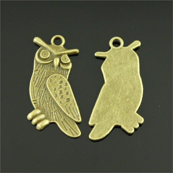 100pcs Charm Owl Vintage Owl Charms Pendant For Jewelry Making Antique Bronze Color Owl Charms 15x35mm