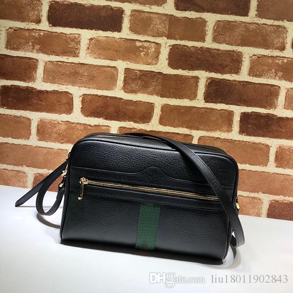 The new style of women's bag in the fashion of 2019 is simple, recreational, simple, sloping, one-shoulder, handheld, lady's and cowhide bag