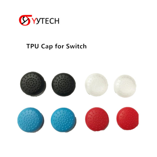best selling SYYTECH New TPU Protective Thumb Stick Grips Cover Controller Crystal Protective Cap For Nintendo Switch Joy-Con