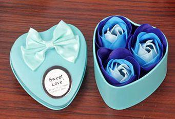 30box 3Pcs beautiful Heart Scented Bath Body Petal Rose Flower Soap Wedding Decoration Best Valentine's Gift