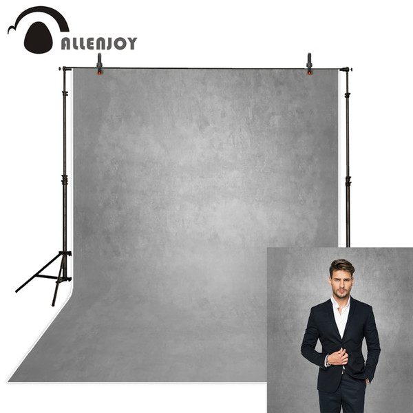 Allenjoy gray pure color old master photography backdrops abstract computer printing custom portrait background photo studio