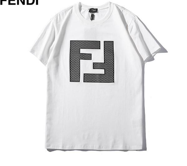2019 Lujo FF Nuevo diseñador de moda Ropa Europa Italia Camiseta Hombres Mujeres Camiseta Casual Cotton Tee Top