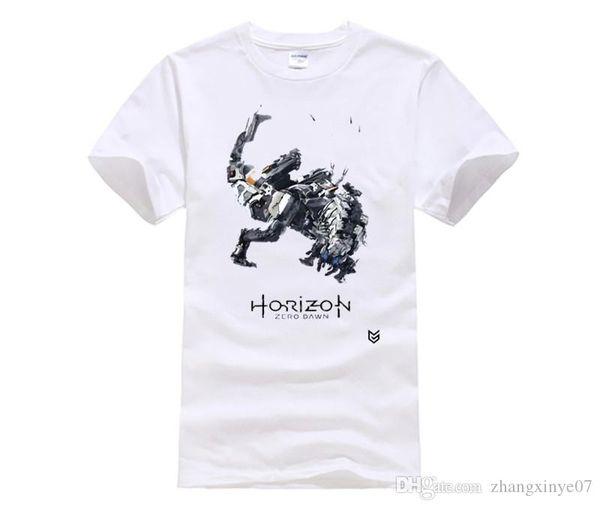 fashion t-shirts for men Game Horizon Zero Dawn T-shirts Print Pattern Short Sleeve O-neck street Tee Shirts